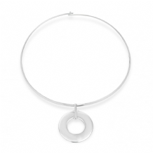 Lovely Silver Plated Circular Necklace
